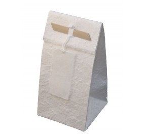 Sacchetto con bamboo bianco