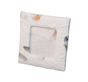 Cornice 8x8,5 cm con petali