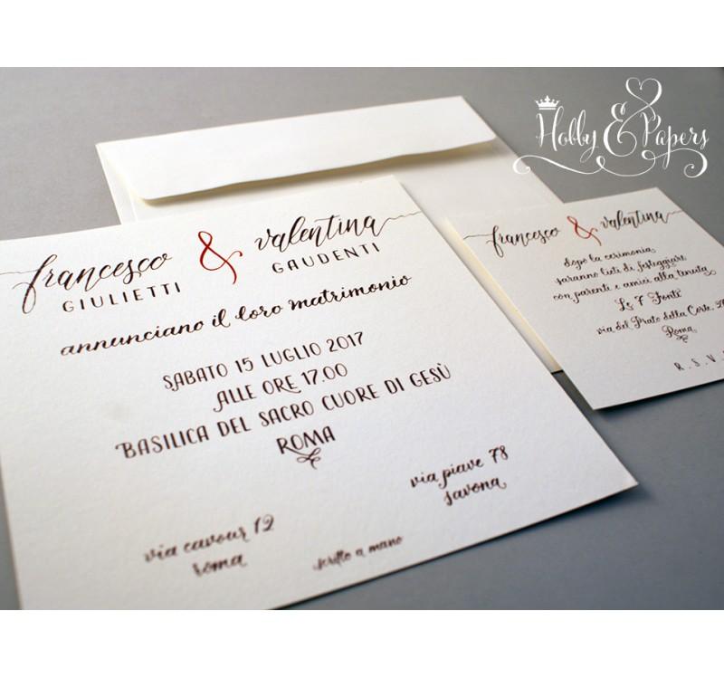 Partecipazioni Matrimonio Scritte.Partecipazione Calligrafia Hobby Papers