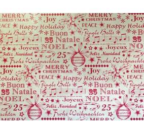 Carta regalo eco rosso Natale