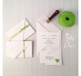 Partecipazioni  Origami Verde Mela