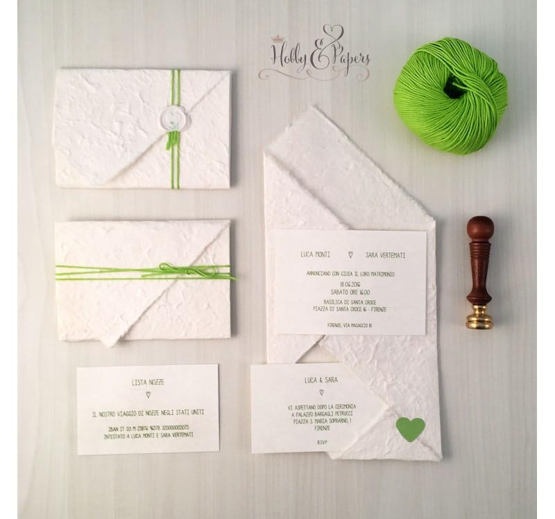 Partecipazioni Matrimonio Origami.Partecipazioni Origami Verde Mela Hobby Papers