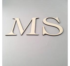 lettera iniziale in legno di betulla