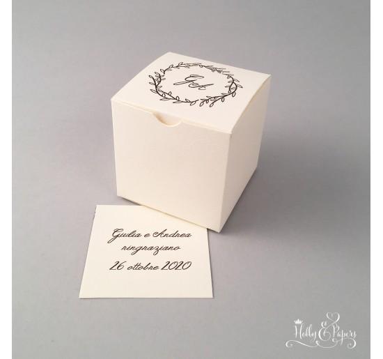 scatola a cubo porta confetti