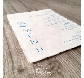 Menu' PIUMA in carta cotone