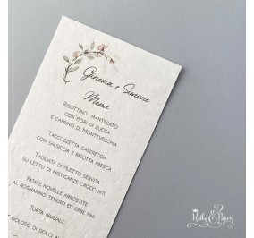 Menu' Acquarello in carta cotone