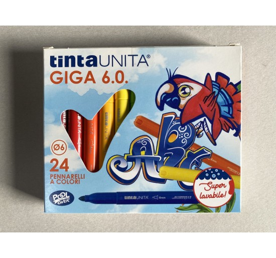 PENNARELLI TINTA UNITA GIGA 6.0