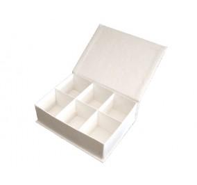 Box 6 scomparti bianco