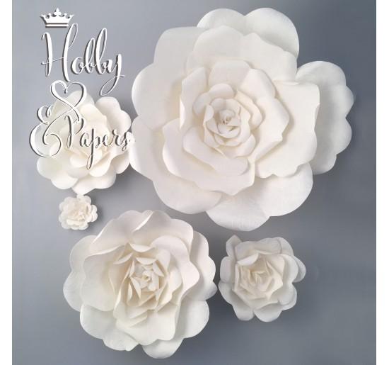 Rose in Carta _ Bianco Goffrate