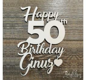 Scritta _ Happy Birthday 50
