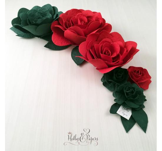 Composizione Rose in carta